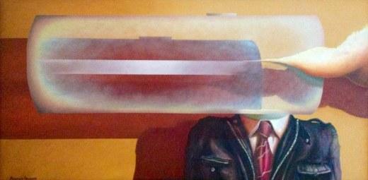 Uomo Cibernetico 2, 2011 - olio su tela, 50x100cm