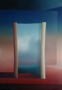 Spazio-Tempo, 2017 - olio su tela, 100x70cm