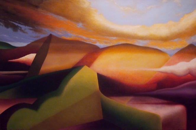 Montagne essenziali, 2015 - olio su tela, 100x150cm (collezione privata)
