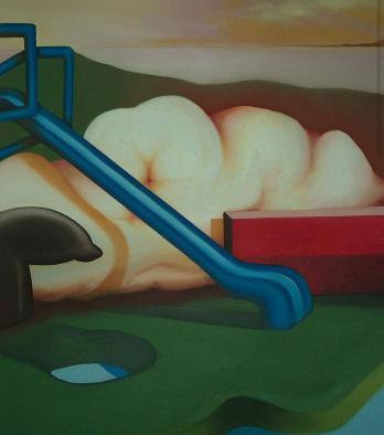 Scivolone FA, 2011 - olio su tela, 120x100cm