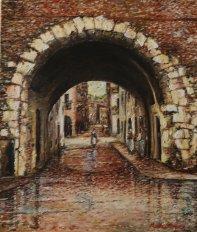 Porton Del Luzzo - olio su tela, 60x50cm