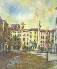 Piazza dei Signori - olio su tela, 60x50cm
