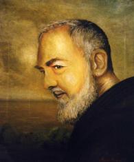 Padre Pio - olio su tela, 60x50cm