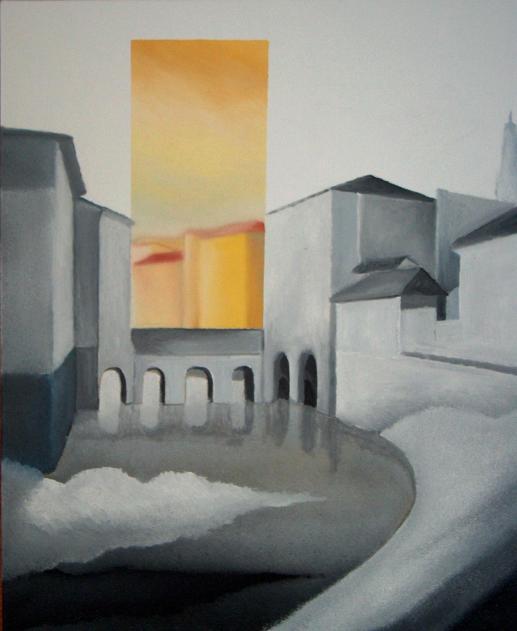 Città essenziale, 2005-2006 - olio su tela, 60x50cm
