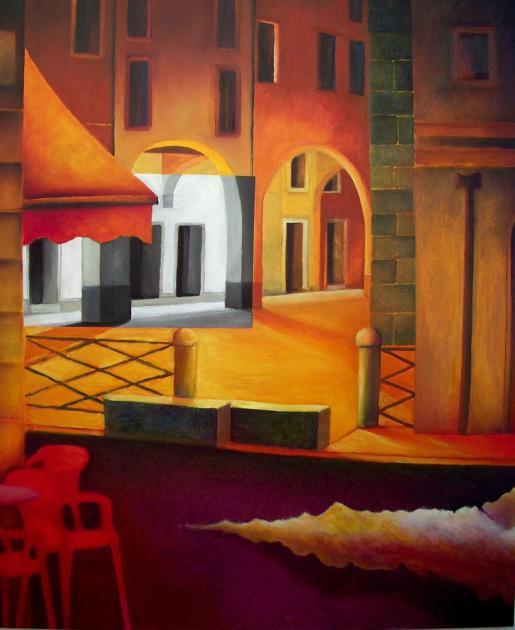 Città essenziale, 2005-2006 - olio su tela, 120x100cm