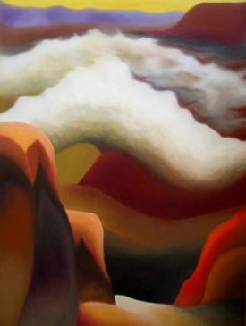 Rakaposhi, 2005 - olio su tela, 150x100cm