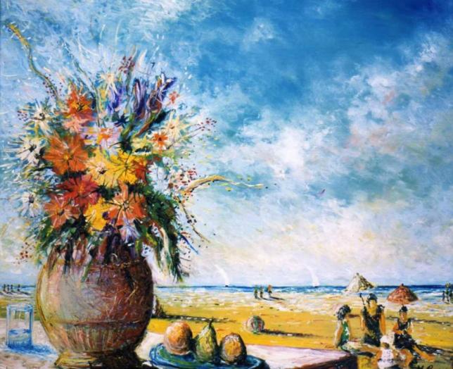 Maurizio Camposeo artista visivo Vicenza - Bagnanti
