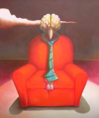 Maurizio Camposeo artista visivo Vicenza - Poltrona rossa