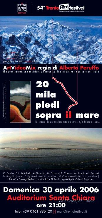 20 mila piedi sopra il mare - artvideomix per il 54 Trento Film Festival