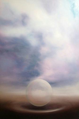 Maurizio Camposeo artista - Destinazione, 2018 - olio su tela, 150x100cm