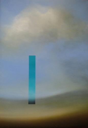 Maurizio Camposeo artista - Obiettivo, 2018 - olio su tela, 100x70cm