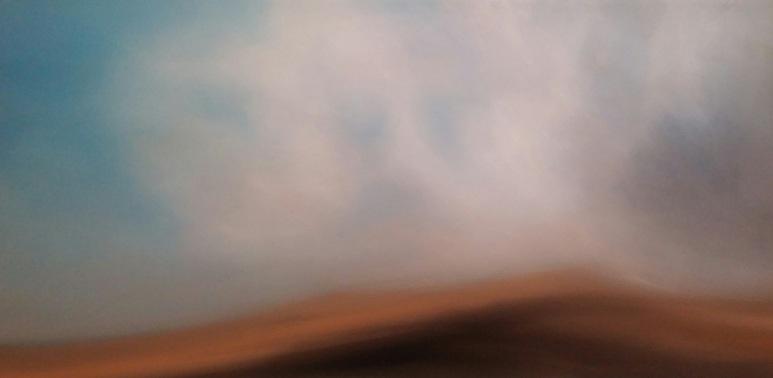 Maurizio Camposeo artista - Percezione, 2018 - olio su tela, 50x100cm