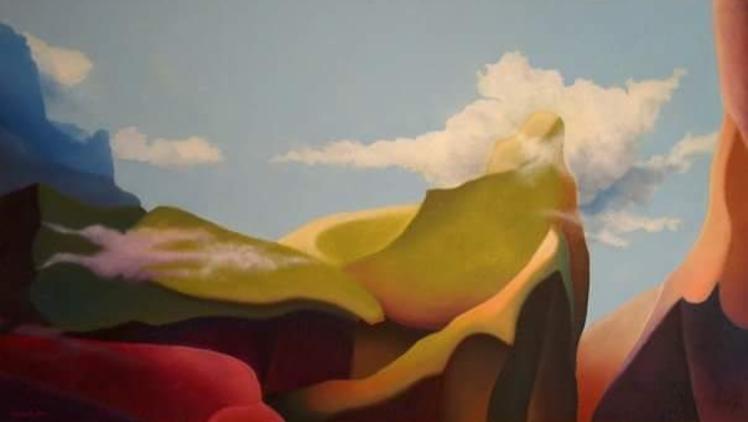 Maurizio Camposeo artista - Montagne essenziali, 2006 - olio su tela, 120x200cm