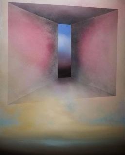 Maurizio Camposeo artista - Andare in profondità, 2018 - olio su tela, 100x70cm