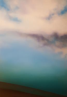 Maurizio Camposeo artista - Sovrapposizioni - ripetersi, 2018 - olio su tela, 100x70cm