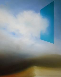 Maurizio Camposeo artista - Direzione, 2018 - olio su tela, 60x50cm