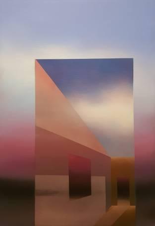 Illusioni, 2019 - olio su tela, 100x70cm