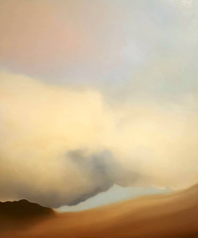 Sfiorarsi, 2019 - olio su tela, 60x50cm